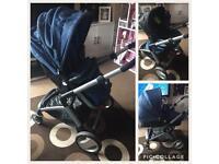 Mothercare Roam Pram , car seat and 2 isofix bases