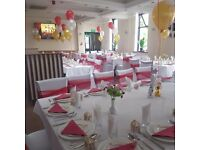 Ds Occasions party chair cover hire only 70p! Set up packages available.