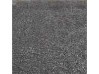 BLACK CARPET SAXONY THICK DEEP PILE NEW 4METERS X 1.8M