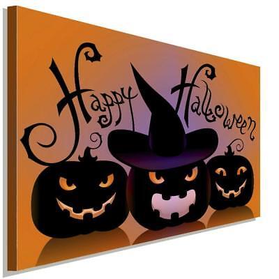 Happy Halloween Kuerbis Leinwandbild AK Art Bilder Wanddeko Wandbild Kunstdruck  ()