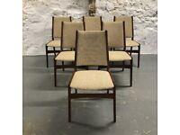 6 Mid Century Modern Teak Danish Dining Chairs