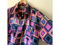 Vintage Silk Shirt, Size XL