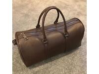 Large Brown Bag, Faux Leather, Zara Man, new