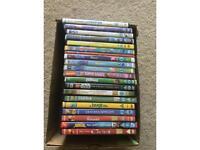 Box of 20 children's dvds