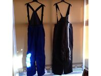 Ski pants / Salopettes x two pair as new (medium size)