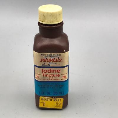 Vintage Peoples Yodo Tintura Plástico Botella Tarro Diseño Publicidad