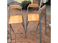 Fold up high stools