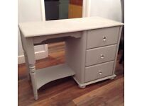 Paris grey shabby chic dressing table bedside drawers
