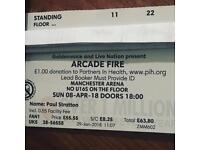 Arcade fire standing ticket Manchester