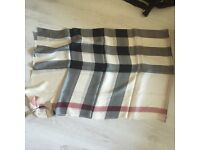 Burberry Prorsum 100% silk scarf MADE IN ITALY