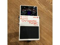 Boss chromatic tuner guitar pedal