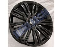 R18* 4X NEW ALLOY WHEELS 22 INCH ALLOYS BLACK FITS LAND ROVER DISCOVERY 5X108