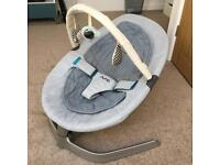 Nuna Leaf baby rocker seat + toy bar