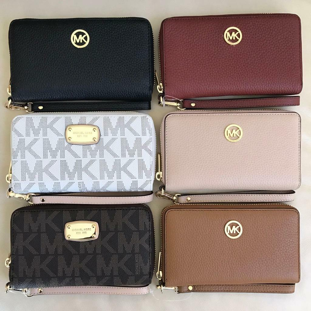 Michael Kors - NEW Michael Kors Jet Set Zip Around Phone Case Wallet Wristlet Various Colors