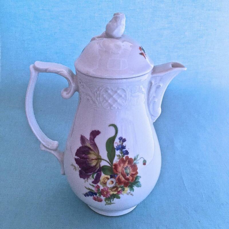 BAVARIA SCHUMANN FLOWERS Coffee/Chocolate Pot AZBERG GERMANY