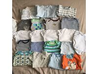 0-3 months boys clothes bundle 40+ items