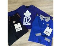 Moncler polo shirts and d-squared t-shirt