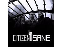 Citizen Sane (Alt-Rock Band) seeks new Drummer