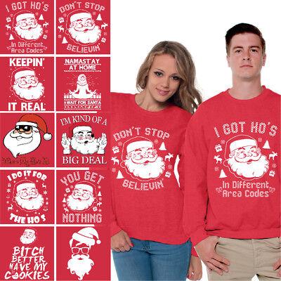 Santa Sweatshirt Ugly Christmas Sweater Funny Santa Sweaters for Christmas