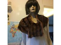 Mink chestnut alaskan vintage fur scarf/wrap