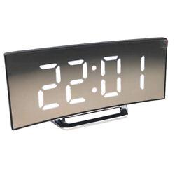 Digital LED Clock  Mirror Alarm Clock Time Night Quiet Movement-01