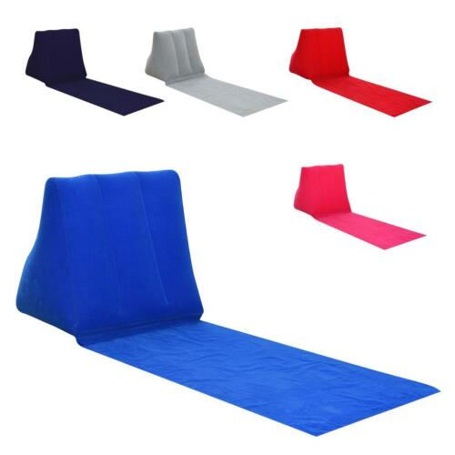 Garden Inflating Beach Camping Lounger Cushion Chair Air Bed