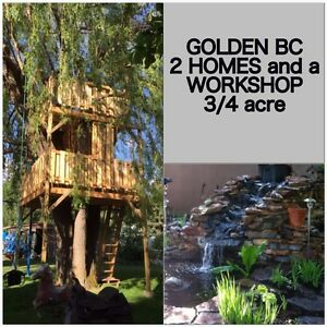 GOLDEN BC 2 HOMES SHOP 3/4 acre
