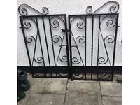 Wrought iron Garden / driveway gates and side panels