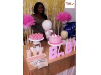 CANDYGLAMUK- TABLE DISPLAY FOR ANY OCCASSION(BABYSHOWER,WEDDING,BIRTHDAY)
