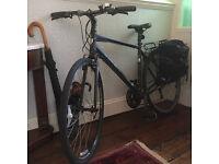TREK Mens Bicycle 7.2 Matt Black Commuter Road Bike