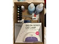 Mylee Gel nails UV lamp and various tools / colours