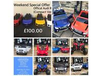 12v Ride-On Cars,Opening Weekend 12 To 8,Parental Remote & Self DriveFrom £100