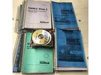 USMLE Step 1 & 2 books with CDs- Unused
