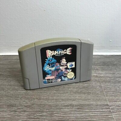 N64 Rampage World Tour Cartridge Game Tested And Working