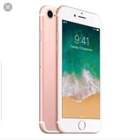 IPhone 7 32GB,rose gold ,unlocked ,can deliver