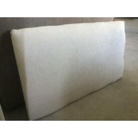 2 beige fabric, single bed headboards (will sell individually)