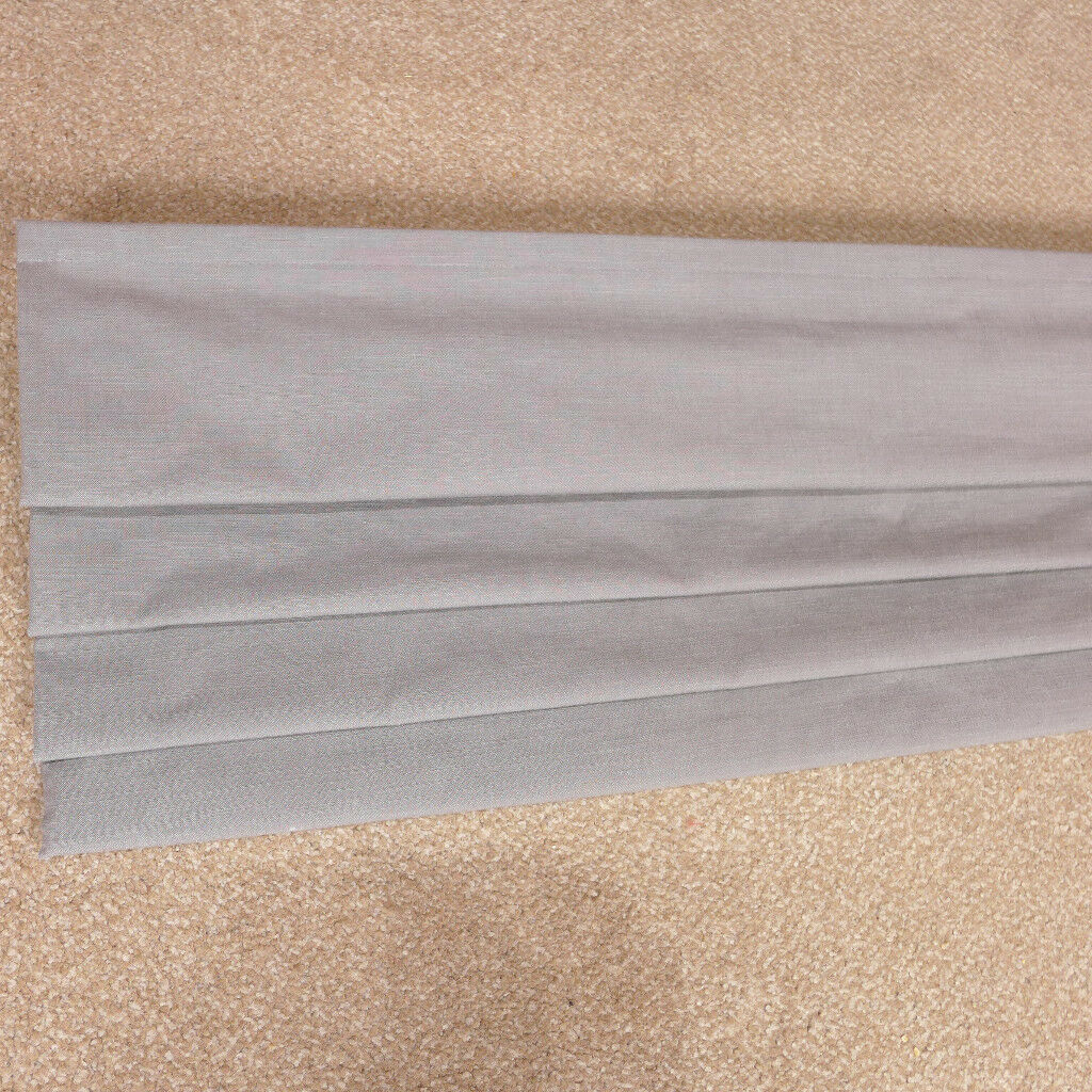 Grey Fabric Blackout Thermal Roman Blinds Shades 121cm x 121cm, Perfect Condition, As New