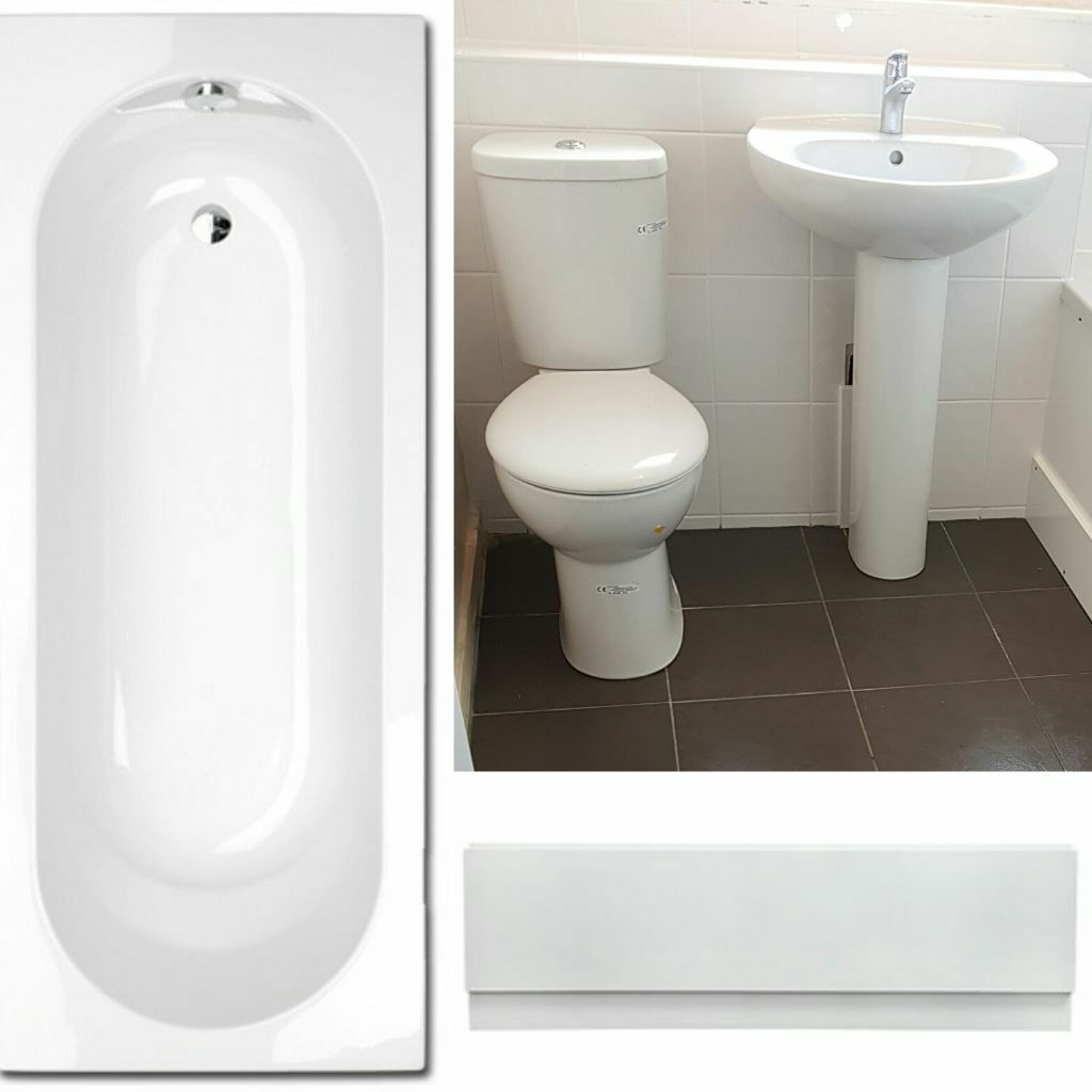 White Bathroom Suite New Complete White Bathroom Suite Toilet Basin Bath Front Bath