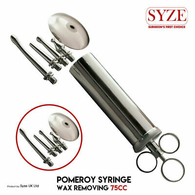Surgical Pomeroy Ear Syringe 100cc Irrigating Wax Removal Medical Instruments Ce