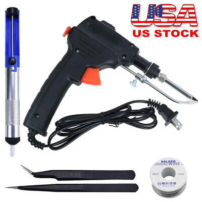 Hot 60w Auto Electric Soldering Iron Gun With Flux 2 Solder Wire Tin Wire 50g