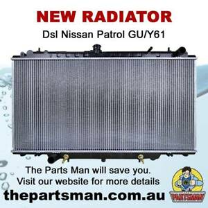 3 Row New For Nissan Patrol Y61 Gu 2.8 Auto Replacement Parts 3.0 Td 97-01 High-performance Aluminum Alloy Radiator & Fans At & Mt