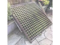 FREE Used Trellis Fencing plus 2 Fence Posts