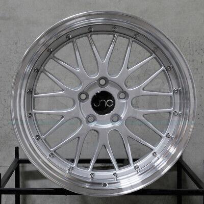 "4-New 20"" JNC 005 Wheels 20x8.5 5x114.3 30 Silver Machine Lip Rims"