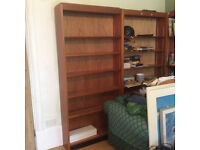 Two solid wood book shelves