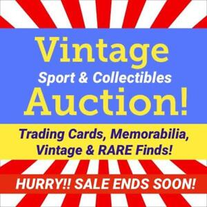 MASSIVE Rare Sports Collectibles Event! Jerseys, Autographs, Bobbleheads, Framed Art, Pennant, Memorabilia, Trading Card
