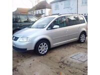 Volkswagen Touran SE FSI 2005 reg, 6 Speed Manual 7 Seater, 12 Month MOT, Service History