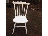 Painted white chair unfinished up cycle project