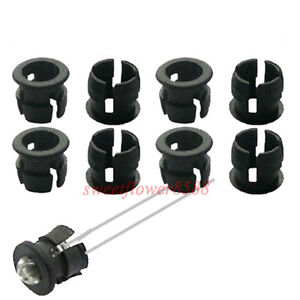 50pcs-3mm-Black-Plastic-LED-Clip-Holder-Case-Cup-Mounting-New-Free-Shipping