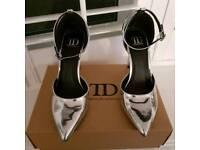 ASOS Silver heels Size 4