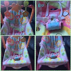Pink Fisher Price infant to toddler chair